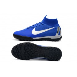 Nike SuperflyX 6 Elite TF Football Boots Blue White
