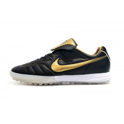 Nike Tiempo Legend 7 R10 Elite TF Football Boots Black Golden