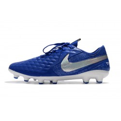 Nike Tiempo Legend 8 Elite AG Football Boots Blue Silver