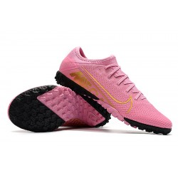 Nike Vapor 13 Pro TF Football Boots Pink  Golden